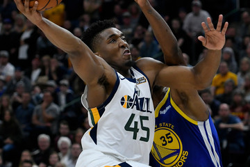 Donovan Mitchell Golden State Warriors v Utah Jazz