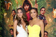 "(L-R) Isabela Moner and Eva Longoria attend the ""Dora and the Lost City of Gold"" World Premiere at the  Regal LA Live on July 28, 2019 in Los Angeles, California."