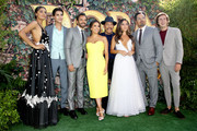 "(L-R) Madeleine Madden, Jeff Wahlberg, Eugenio Derbez, Eva Longoria, Danny Trejo, Isabela Moner, Michael Peña, and Nicholas Coombe attend the ""Dora and the Lost City of Gold"" World Premiere at the  Regal LA Live on July 28, 2019 in Los Angeles, California."