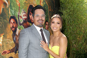 "(L-R) Michael Peña and Eva Longoria attend the ""Dora and the Lost City of Gold"" World Premiere at the  Regal LA Live on July 28, 2019 in Los Angeles, California."