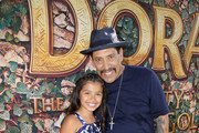 "(L-R) Madelyn Miranda and Danny Trejo attend the ""Dora and the Lost City of Gold"" World Premiere at the  Regal LA Live on July 28, 2019 in Los Angeles, California."