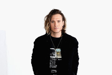 Dougie Poynter Celebrities & Front Row - Day 4 - LFW Men's January 2017