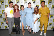 (L-R) Patrick Gomez, Noelle Stevenson, Karen Fukuhara, Lauren Ash, Aimee Carrero and Marcus Scribner attend DreamWorks She-Ra and the Princesses of Power at San Diego Comic-Con 2019 at San Diego Convention Center on July 19, 2019 in San Diego, California.