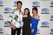 """(L-R) Marcus Scribner, Aimee Carrero and Karen Fukuhara attend DreamWorks """"She-Ra and the Princesses of Power"""" ˆat WonderCon at Anaheim Convention Center on March 30, 2019 in Anaheim, California."""