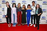 "(L-R) Lauren Ash, Merit Leighton, AJ Michalka, Aimee Carrero, Karen Fukuhara, Marcus Scribner and Noelle Stevenson attend DreamWorks ""She-Ra and the Princesses of Power"" ˆat WonderCon at Anaheim Convention Center on March 30, 2019 in Anaheim, California."