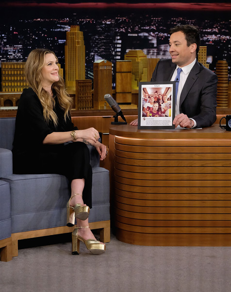Drew Barrymore Jimmy Fallon Photos - Drew Barrymore Visits ...
