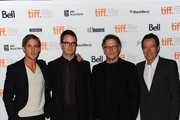 "(L-R) Actor Ryan Gosling, director Nicolas Winding Refn, actor Albert Brooks, and actor Bryan Cranston arrive at ""Drive"" Premiere at Ryerson Theatre during the 2011 Toronto International Film Festival on September 10, 2011 in Toronto, Canada."