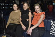 (L-R) Fryda Lidor, Kate Beckinsale and Kim Peiffer attend DuJour Cover Star Kate Beckinsale Celebrates Spring Issue With CEO And Founder Jason Binn Presented by Paul Chevalier of Whispering Angel at PhD (Dream Downtown Hotel Rooftop) on February 28, 2019 in New York City.