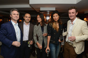 (L-R)  Jason Binn, Joey Allaham, Marisol Chiang, Monika Chiang, and Nick English attend DuJour's Jason Binn and Bremont Watch Company's Nick English intimate influencers dinner at Harry Cipriani on October 13, 2015 in New York City.