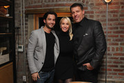 (L-R) Actor Neal Gibeau, Sage Robbins and Life Coach Tony Robbins attend DuJour Magazine's Jason Binn and Invicta Watches in the welcoming of Tony Robbins to New York at Catch NYC on November 17, 2014 in New York City.