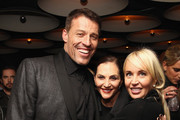 Life Coach Tony Robbins, Jan Miller and Sage Robbins attend DuJour Magazine's Jason Binn and Invicta Watches in the welcoming of Tony Robbins to New York at Catch NYC on November 17, 2014 in New York City.