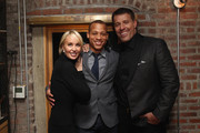 (L-R) Sage Robbins, Chairman of Impact Republic Jarrin Kirksey and Life Coach Tony Robbins attend DuJour Magazine's Jason Binn and Invicta Watches in the welcoming of Tony Robbins to New York at Catch NYC on November 17, 2014 in New York City.