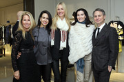 (L-R) Jennifer Gerstel Ringelstein, Advisory Board for Evolve, Haley Binn, Chris Mack, Accessory Designer for Creel-Mack,  Jennifer Creel and Jason Binn, founder of DuJour Media attend DIOR and DuJour fete the holidays with a preview of the Cruise 2015 collection on December 17, 2014 in New York City.