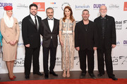 "Producer Keith Rodger, actors Yilmaz Erdogan, Olga Kurylenko, Cem Yilmaz and producer Andrew Mason attend ""The Water Diviner"" premiere during day two of the 11th Annual Dubai International Film Festival held at the Madinat Jumeriah Complex on December 11, 2014 in Dubai, United Arab Emirates."
