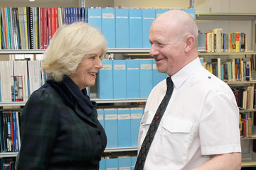 Robert Howard The Duchess Of Cornwall Meets TFL Employees Taking Part In English Classes