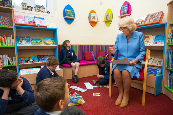 The Duchess Of Cornwall Visits The Bream Community Library