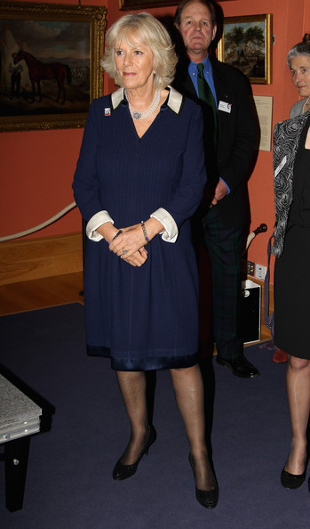 The Duchess Of Cornwall Visits The War Horse Exhibition