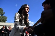 Meghan, Duchess of Sussex visits the the Robert Clack Upper School in Dagenham to attend a special assembly ahead of International Women's Day (IWD) held on Sunday 8th March, on March 6, 2020 in London, England.