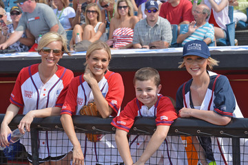 Nicole Schulz In The Dugout At City Of Hope's 2012 Celebrity Softball Challenge