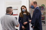 Catherine, Duchess of Cambridge and Prince William, Duke of Cambridge visit Base25 to mark mental health awareness week on May 13, 2021 in Wolverhampton, England.
