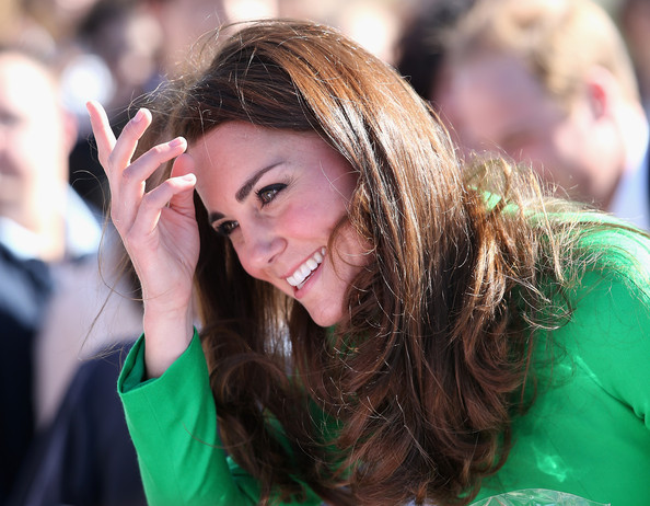 Catherine, Duchess of Cambridge smiles as she visits the National Arboretum on April 24, 2014 in Canberra, Australia. The Duke and Duchess of Cambridge are on a three-week tour of Australia and New Zealand, the first official trip overseas with their son, Prince George of Cambridge.