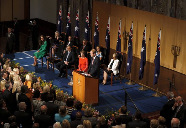 Prince William, Duke of Cambridge delivers a speech during a reception in the Great Hall at Parliament House on April 24, 2014 in Canberra, Australia. The Duke and Duchess of Cambridge are on a three-week tour of Australia and New Zealand, the first official trip overseas with their son, Prince George of Cambridge.