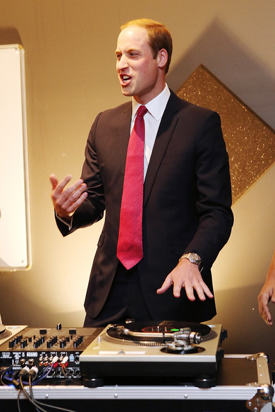 Prince William, Duke of Cambridge plays on DJ decks at the youth community centre, The Northern Sound System in Elizabeth on April 23, 2014 in Adelaide, Australia. The Duke and Duchess of Cambridge are on a three-week tour of Australia and New Zealand, the first official trip overseas with their son, Prince George of Cambridge.