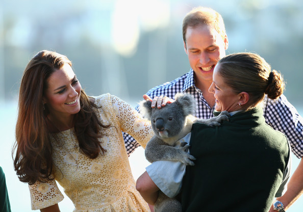 Prince William, Duke of Cambridge, and Catherine, Duchess of Cambridge,  meet a Koala at Taronga Zoo on April 20, 2014 in Sydney, Australia. The Duke and Duchess of Cambridge are on a three-week tour of Australia and New Zealand, the first official trip overseas with their son, Prince George of Cambridge.