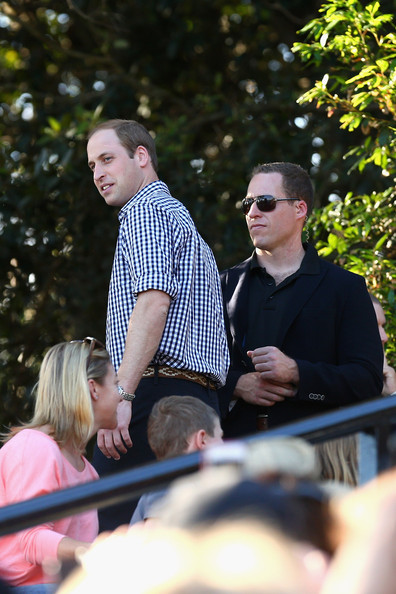Prince William, Duke of Cambridge arrives at the Taronga Zoo bird show on April 20, 2014 in Sydney, Australia. The Duke and Duchess of Cambridge are on a three-week tour of Australia and New Zealand, the first official trip overseas with their son, Prince George of Cambridge.