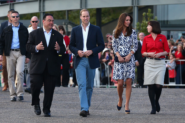 The Duke and Duchess of Cambridge visit Echo Point on April 17, 2014 in Katoomba, Australia. The Duke and Duchess of Cambridge are on a three-week tour of Australia and New Zealand, the first official trip overseas with their son, Prince George of Cambridge.