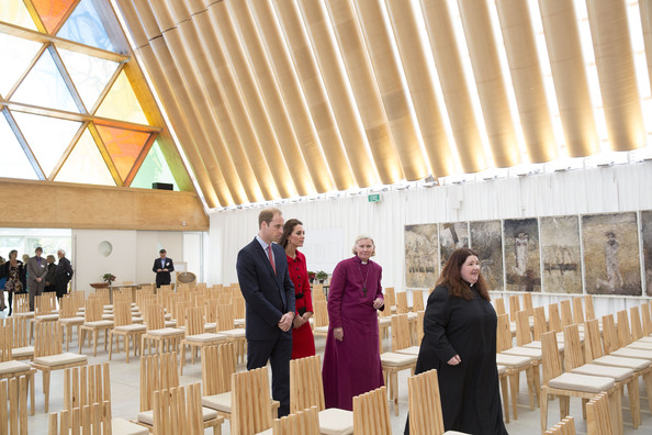 Catherine, Duchess of Cambridge and Prince William, Duke of Cambidge visit the Transitional Cathedral on April 14, 2014 in Christchurch, New Zealand. The Duke and Duchess of Cambridge are on a three-week tour of Australia and New Zealand, the first official trip overseas with their son, Prince George of , Dambridge.