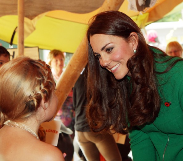 Catherine, Duchess of Cambridge attends a Fairy Tale Party at Waikato Hospice  Rainbow Place on April 12, 2014 in Cambridge, New Zealand. The Duke and Duchess of Cambridge are on a three-week tour of Australia and New Zealand, the first official trip overseas with their son, Prince George of Cambridge.