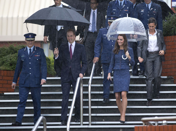 Prince William, Duke of Cambridge and Catherine, Duchess of Cambridge are escorted by Police Commissioner Mike Bush (L) during a visit to the Royal New Zealand Police College on April 16, 2014 in Wellington, New Zealand. The Duke and Duchess of Cambridge are on a three-week tour of Australia and New Zealand, the first official trip overseas with their son, Prince George of Cambridge.