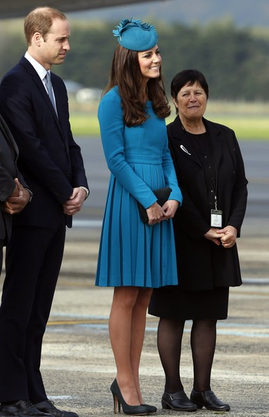 Prince William, Duke of Cambridge and Catherine, Duchess of Cambridge arrive at Dunedin International Airport on April 13, 2014 in Dunedin, New Zealand. The Duke and Duchess of Cambridge are on a three-week tour of Australia and New Zealand, the first official trip overseas with their son, Prince George of Cambridge.  (Photo by Phil Noble - Pool /Getty Images