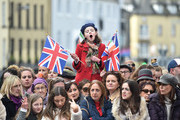 A young girls yawns as she waits for the arrival of Prince William, Duke of Cambridge and Catherine, Duchess of Cambridge on the third day of their first official visit to Ireland on March 5, 2020 in Galway, Ireland.