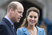 Prince William, Duke of Cambridge and Catherine, Duchess of Cambridge attend a Beating of the Retreat at the Palace of Holyroodhouse on May 27, 2021 in Edinburgh, Scotland.