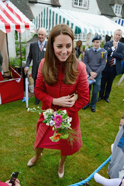 Catherine, Duchess of Cambridge meets members of the public at Forteviot village fete on May 29, 2014 in Forteviot, Scotland. The Duke and Duchess of Cambridge will spend today in Scotland where they toured a distillery and visited a village fete.