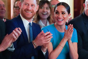Prince Harry, Duke of Sussex and Meghan, Duchess of Sussex cheer attend the annual Endeavour Fund Awards at Mansion House on March 5, 2020 in London, England. Their Royal Highnesses will celebrate the achievements of wounded, injured and sick servicemen and women who have taken part in remarkable sporting and adventure challenges over the last year.