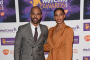 Marvin Humes and Rochelle Humes attend the WellChild awards at Royal Lancaster Hotel on October 15, 2019 in London, England.