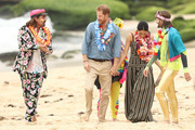 Prince Harry, Duke of Sussex and Meghan, Duchess of Sussex meet Grant Trebilco and Sam Schumacher, founder and co-founder of OneWave, a local surfing community group raising awareness for mental health and wellbeing at Bondi Beach on October 19, 2018 in Sydney, Australia. The Duke and Duchess of Sussex are on their official 16-day Autumn tour visiting cities in Australia, Fiji, Tonga and New Zealand.