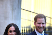 Prince Harry, Duke of Sussex and Meghan, Duchess of Sussex leave after their visit to Canada House in thanks for the warm Canadian hospitality and support they received during their recent stay in Canada, on January 7, 2020 in London, England.