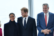 The Duke And Duchess Of Sussex Visit One World Observatory With NYC Mayor Bill De Blasio