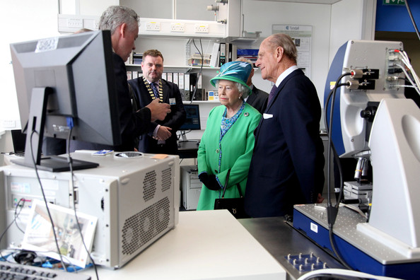 Duke of Edinburgh Queen Elizabeth II and Prince Philip, Duke of Edinburgh visit the Tyndall National Institute on May 20, 2011 in Cork, Ireland. Queen Elizabeth II and Prince Philip, Duke of Edinburgh are on the final day of their historic four-day tour of the Republic of Ireland amid tight security, the first visit to Ireland by a British monarch since 1911.