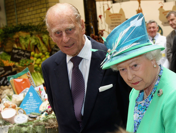 Duke of Edinburgh Queen Elizabeth II and Prince Philip, Duke of Edinburgh look at produce as they visit the English Market on May 20, 2011 in Cork, Ireland. The Duke and Queen's visit to Ireland is the first by a monarch since 1911. An unprecedented security operation is taking place with much of the centre of Dublin turning into a car free zone. Republican dissident groups have made it clear they are intent on disrupting proceedings.