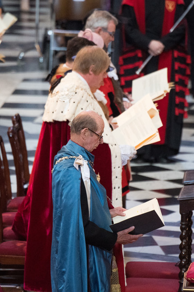 HM Queen Attends A Service Marking The Most Distinguished Order Of St George [event,cardinal,religious institute,cope,pray,musician,ceremony,music,performance,prince edward,elizabeth ii,queen,service,commemoration,service,dedication,attends a service marking the most distinguished order of st george,hm,anniversary]