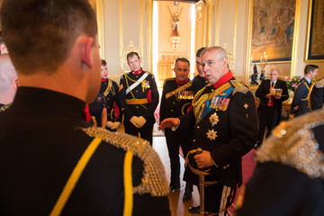 Duke of York Queen Elizabeth II Attends Guidon To The Royal Lancers Presentation