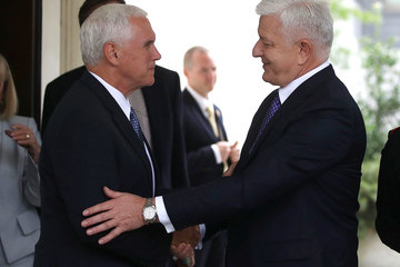 Dusko Markovic Mike Pence Meets With Montenegrin PM Markovic At The White House