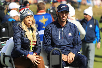 Dustin Johnson Paulina Gretzky 2018 Ryder Cup - Morning Fourball Matches