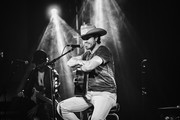 Image was shot in black & white, color version is not available.) Singer & songwriter Dustin Lynch performs at 3rd & Lindsley on September 28, 2020 in Nashville, Tennessee.