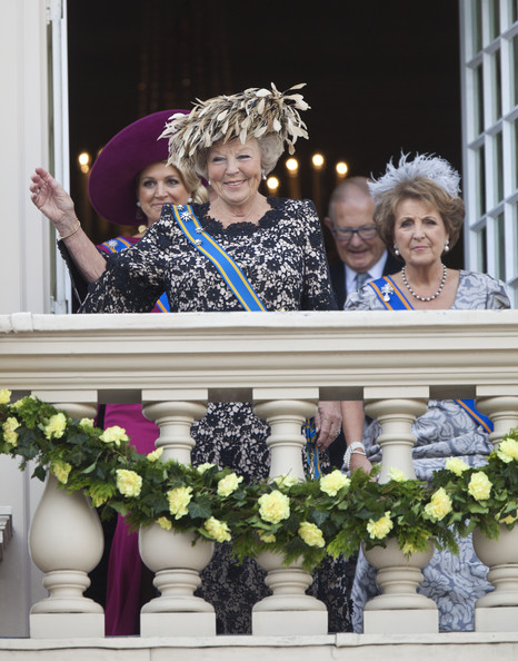 Princess Maxima of the Netherlands and Queen Beatrix of the Netherlands attend the Budget Day announcement on September 18, 2012 in The Hague, Netherlands.